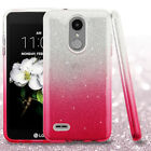For LG Fortune 2 SHINE HYBRID Layered HARD Case Rubber Phone Cover