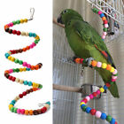 1Pc Fashion Wooden Beads Beaded Birds Cage Toys Parrot Swing Ladder Stand Perch