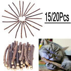 15pcs/20pcs Cat Snacks Matatabi Chew Catnip Stick Teeth Molar Cleaning Brush Toy