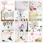 Flower Grass Trees House Branch Wall Decal Sticker Vinyl Art Kids Home Decor Uk