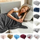Flannel Fleece Blanket Warm Microfiber Blanket for Bed Sofa Throw Queen King image