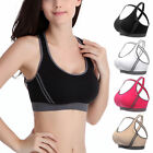 Womens Yoga Fitness Stretch Workout Seamless Racerback Padded Sports Bra Tops US