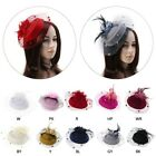 Внешний вид - Fascinators Hair Clip Headband Pillbox Hat Bowler Feather Veil Wedding Party New