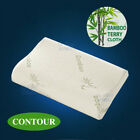 Luxury Bamboo Pillow Anti Bacterial Memory Foam Fabric Fibre Cover 50 X 30CM