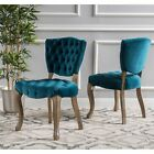 Bates Tufted Dining Chairs (Set of 2) by Christopher Knight Home