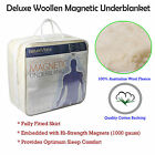 Fitted Deluxe Woolen Magnetic Underlay Topper Underblanket - Single or King Sing