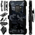 For Samsung Galaxy Phone Case Holster Kick Stand Cover CAMO BLACK LuxGuard