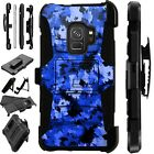 For Samsung Galaxy Phone Case Holster Stand Cover ARTISTIC CAMO BLUE LuxGuard