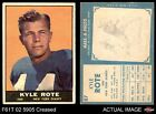 1961 Topps #87 Kyle Rote Giants-FB VG