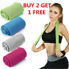 Buy 2 get 1 free ice Cooling Towel for Sports Workout Fitness Gym Yoga Pilates image