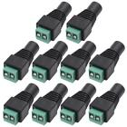 10pcs 2Pin 2.1x5.5mm DC Power Jack M/F Adapter Plugs for LED Strip CCTV Camera