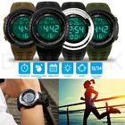 Men's Digital Sports Outdoor Watch Military Army Waterproof Fashion Alarm LED image