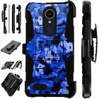 For Apple / LG Phone Case Holster KickStand Cover ARTISTIC CAMO BLUE Lux Guard