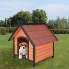 Home Door Outdoor Pet Dog Kennel Garden Shelter Patio Den Wooden Pet House US