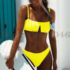 Women Brazilian Sexy Thong Soft Padded Bikini High Waist Two Piece Swimsuits Set