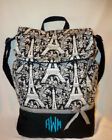 Eiffel Tower Paris Toile school back pack book bag diaper bag tote all ages