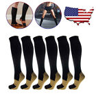 Внешний вид - 4 Pairs Compression 20-30mmHg Support Socks Relief Miracle Calf Men's Women's