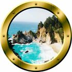 VWAQ 3D Ocean View Wall Decal Nature Scene Porthole Peel And Stick Mural