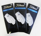 Three(3) New Titleist Perma Soft Left Gloves for Right Handed Golfe
