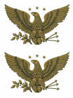 Внешний вид - Vintage Image Patriotic Gold Early American Eagle Large Transfers Decals MIS525