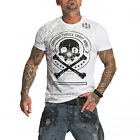 YAKUZA Herren Kurzarm T-Shirt THORNS White 11044