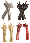 Внешний вид - WOMENS LONG ELBOW SEQUIN GLOVES 1920S 20'S FLAPPER PROM ADULT COSTUME GLOVES