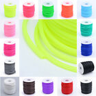 1Roll 3mm Hollow Pipe PVC Tubular Rubber Cord Wrapped Around White Plastic Spool
