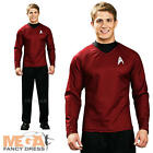 Scotty Shirt Mens Fancy Dress Star Trek Red Sci Fi Space Uniform Adults Costume on eBay
