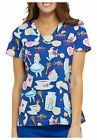 Cherokee Tooniforms Scrubs Alice in Wonderland Late For A Date Top Sz XS-XXL NWT