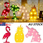 LED Letter Table Lamp Animal Plants Unicorn Night Light Kids Room Decoration