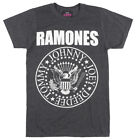 THE RAMONES PRESIDENTIAL SEAL T-SHIRT MENS HEATHER CHARCOAL PUNK MUSIC TEE MENS image