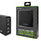 Cellet 5.1Amp 4-Port USB Desktop Charging Station FAST CHARGE Wall Charger Black