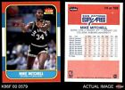 1986 Fleer #74 Mike Mitchell Spurs NM/MT