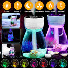 Electronic LED Digital Alarm Clock Blue Light Thermometer Display Mirror Lamp US