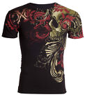 XTREME COUTURE by AFFLICTION Mens T-Shirt TELEPHUS Skull BLACK Biker MMA UFC $40 image