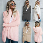 Fashion Fur hoodie Jacket Lapel Long Sleeve Faux Shearling Coat Cardigan Coat HX