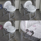 Clair de Lune Over The Moon Grey Wicker Moses Basket