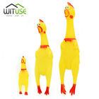 Screaming Rubber Yellow Chicken Pet Dog Toy Squeak Squeaker Chew Gift 3-Size 3D