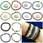 "Small 4mm 6mm Gemstone Round Beads Stretch Bracelet Reiki 5""-6""- 6.5"" kids SIZE  image"