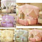 Princess Lace 4 Corner Post Bed Canopy Luxury Mosquito Netting No Frame(Post) image