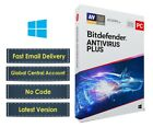 New Bitdefender Antivirus Plus 2019 for Windows 1 & 3 Years | 70% Discount