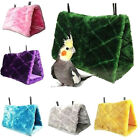 Bird Parrot Plush Hammock Cage Snuggle Happy Hut Tent Bed Bunk Toy Hanging Cave&