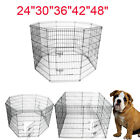 """24""""30""""36""""42""""48""""Tall Wire Fence Pet Dog Cat Folding Exercise Yard Play Pen 8Panel"""