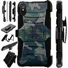 Lux-Guard For iPhone 6/7/8 PLUS/X/XR/XS Max Phone Case CAMO MESH GREEN