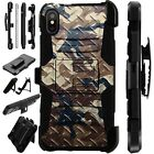 Lux-Guard For iPhone 6/7/8 PLUS/X/XR/XS Max Phone Case CROSSHATCH CAMO BROWN