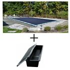 Rectangle DELUXE In-Ground Swimming Pool Winter Cover w/ Aqua Bloks