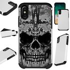FusionGuard For iPhone 6-7-8 PLUS-X-XR-XS Max Phone Case EVIL SKULL GRAY