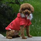 Dog Vest Cold Weather Jacket w/ Fur Lined Hood Waterproof Windproof Pet Apparel