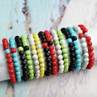 Fashion Distance Bracelets Lovers Couples Matching 8mm Matte Agate Xmas Gift