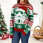 Christmas Santa Claus Knitted Xmas Jumper Sweater Pullover Great Girl Tops Gift